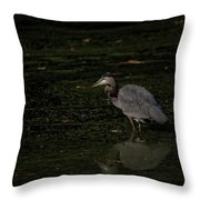Moment Of The Heron Throw Pillow