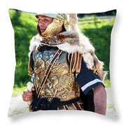 Watchful Roman Legionnary Soldier Throw Pillow
