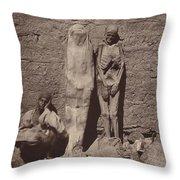 Momies Egyptiennes (egyptian Mummies) Throw Pillow