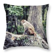 Momkeyshines Throw Pillow