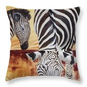 Momma And Baby Throw Pillow