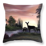 Momma And Twins . Throw Pillow