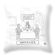Mommelier Throw Pillow