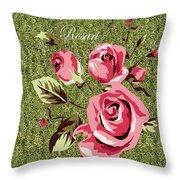 Mom's Day Elegance Vintage Rose Throw Pillow