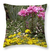Moms Garden Throw Pillow