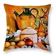 Mom's Kitchen Throw Pillow by Dalgis Edelson