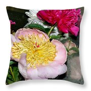 Mom's Peonies Throw Pillow