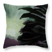 Moon Behind The Palm Tree Throw Pillow