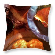 Mon Petite French Repast Throw Pillow