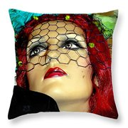 Mona In Mourning Throw Pillow