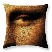 Mona Lisa Eyes 3 Throw Pillow