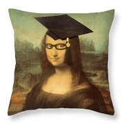 Mona Lisa  Graduation Day Throw Pillow