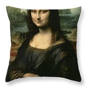 Mona Lisa Throw Pillow by Leonardo da Vinci