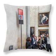 Mona Lisa, Louvre Museum, Paris Throw Pillow