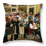 Mona Lisa Reflected Throw Pillow
