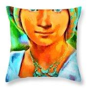 Mona Lisa Young - Da Throw Pillow