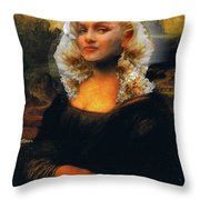 Mona Marilyn Throw Pillow