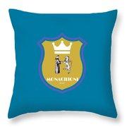 Monacilioni Yellow Crown Throw Pillow