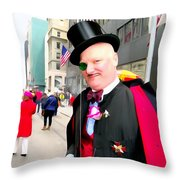 Monacled And Majestic Throw Pillow