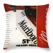 Monaco F1 1993 Throw Pillow
