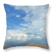 Monahans Sand Dunes At Dusk Throw Pillow