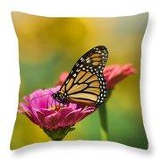 Monarch 9 Throw Pillow