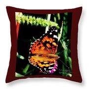Monarch Butterfly # 2 Throw Pillow
