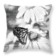 Monarch Butterfly Art 2 Throw Pillow