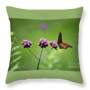 Monarch Butterfly Balanced 2017 Throw Pillow