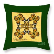 Monarch Butterfly Pin Wheel Throw Pillow