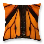 Monarch Butterfly Wings Throw Pillow