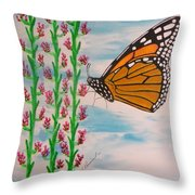 Monarch Heaven Throw Pillow