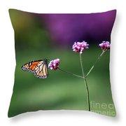 Monarch In Fall Garden 2011 Throw Pillow