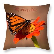 Monarch On Tithonia Mother's Day Gifts Throw Pillow