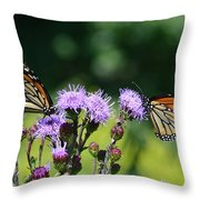 Monarchs And Blazing Star Throw Pillow