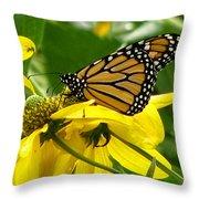 Monarchs Gold Throw Pillow