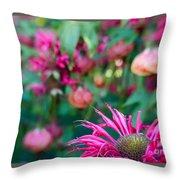Monardia And Abutilon 1 Throw Pillow