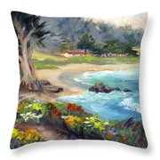 Monastery Beach, Carmel Throw Pillow