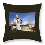 Monastery In Zvenigorod, Russia Throw Pillow
