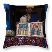Monastery Of Abba Pantaleon  Throw Pillow
