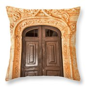 Monastery Of Jeronimos Door Throw Pillow