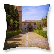 Monastery Of Saint Jerome Approach Throw Pillow