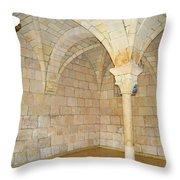 Monastery Of St. Bernard De Clairvaux 3 Throw Pillow
