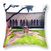 Monastery Of St. Bernard De Clairvaux Garden Throw Pillow