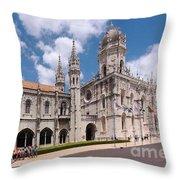 Monastery Of The Hieronymites Lisbon 5 Throw Pillow