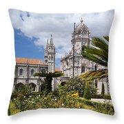Monastery Of The Hieronymites Lisbon 6 Throw Pillow