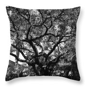 Monastery Tree Throw Pillow