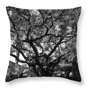 Monastery Tree Throw Pillow