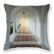 Monastic Tranquility Throw Pillow