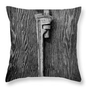 Moncky Wrench Bw Throw Pillow